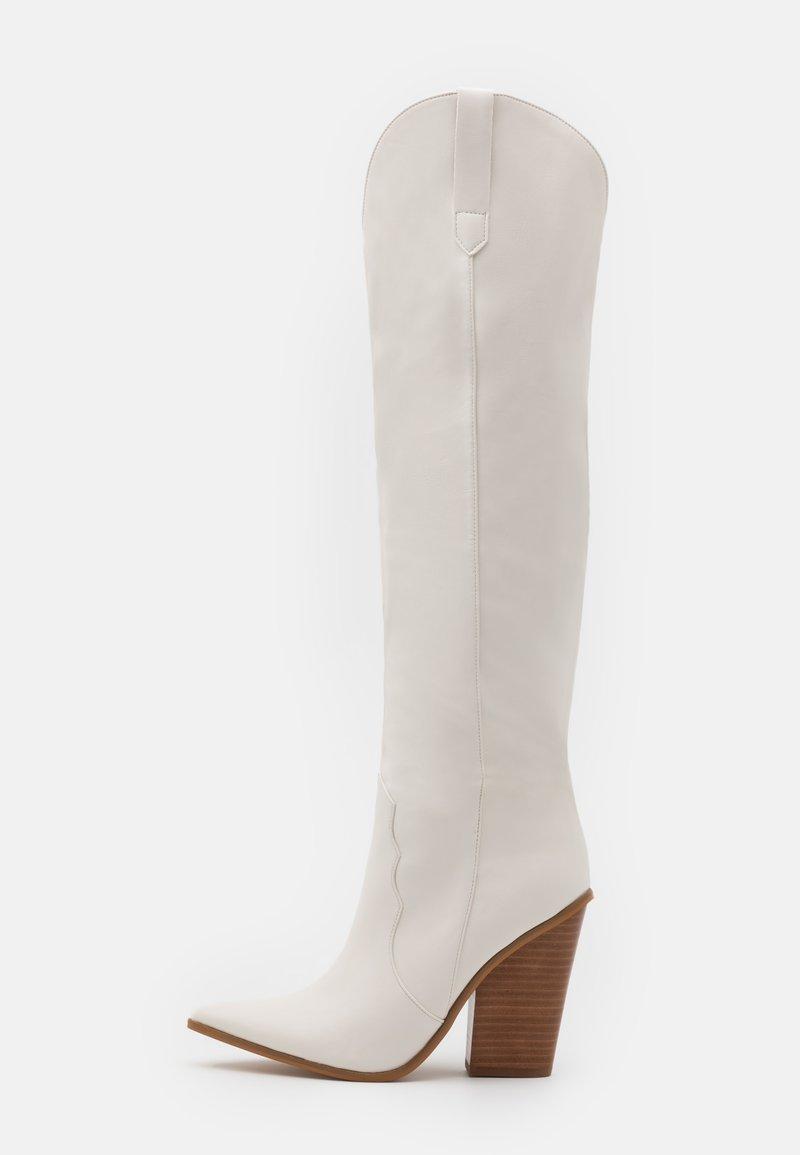 Steve Madden - RANGER - Laarzen met hoge hak - white