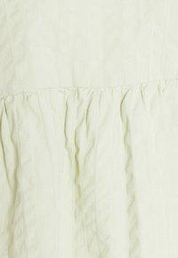 Monki - MARIA PEPLUM BLOUSE - Long sleeved top - green dusty light - 6