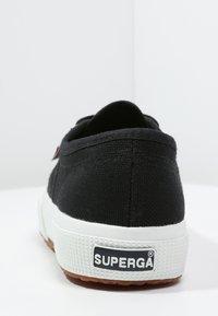 Superga - 2750 COTU CLASSIC UNISEX - Sneakersy niskie - black/White - 3