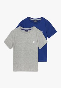 Champion - LEGACY CHAMPION BASICS CREW-NECK 2 PACK - T-shirt basic - grey/blue - 0