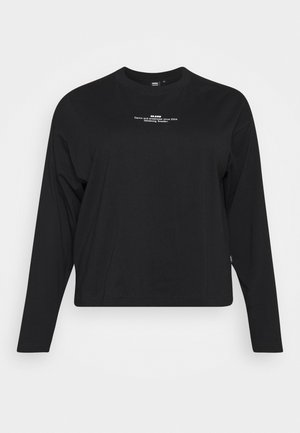 NOOMI LONG SLEEVE - Langærmede T-shirts - black