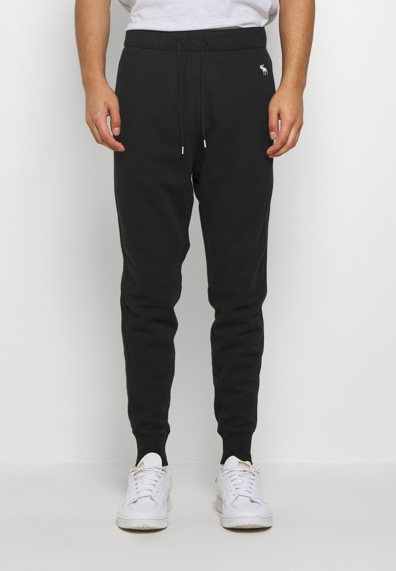Abercrombie & Fitch - ICON - Tracksuit bottoms - black
