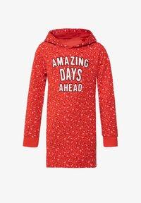 WE Fashion - WE FASHION MÄDCHENKLEID MIT CAMOUFLAGE-MUSTER - Robe d'été - red - 0