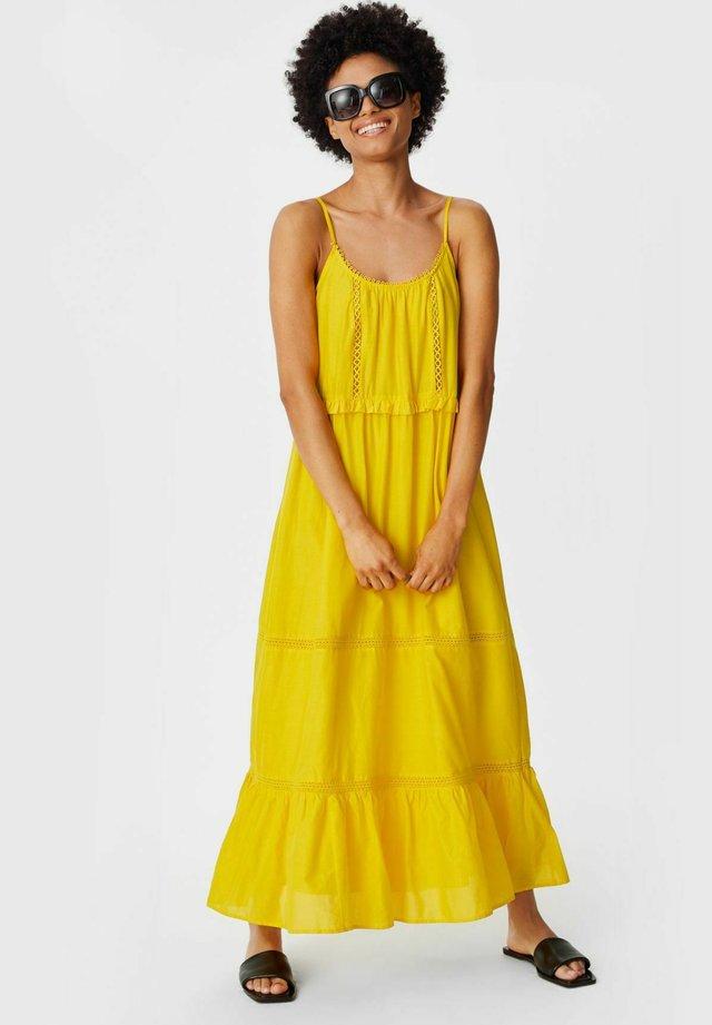 Długa sukienka - yellow