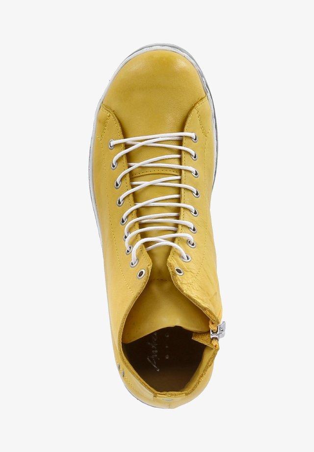 Lace-up ankle boots - curry