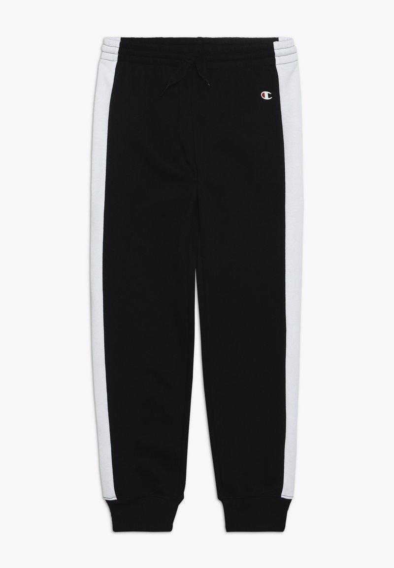 Champion - BASIC BLOCK CUFF PANTS - Tracksuit bottoms - black