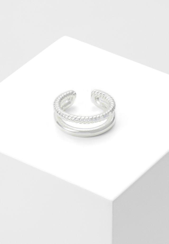 DOUBLE EAR CUFF - Orecchini - silver-coloured