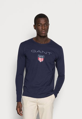 SHIELD - Long sleeved top - evening blue