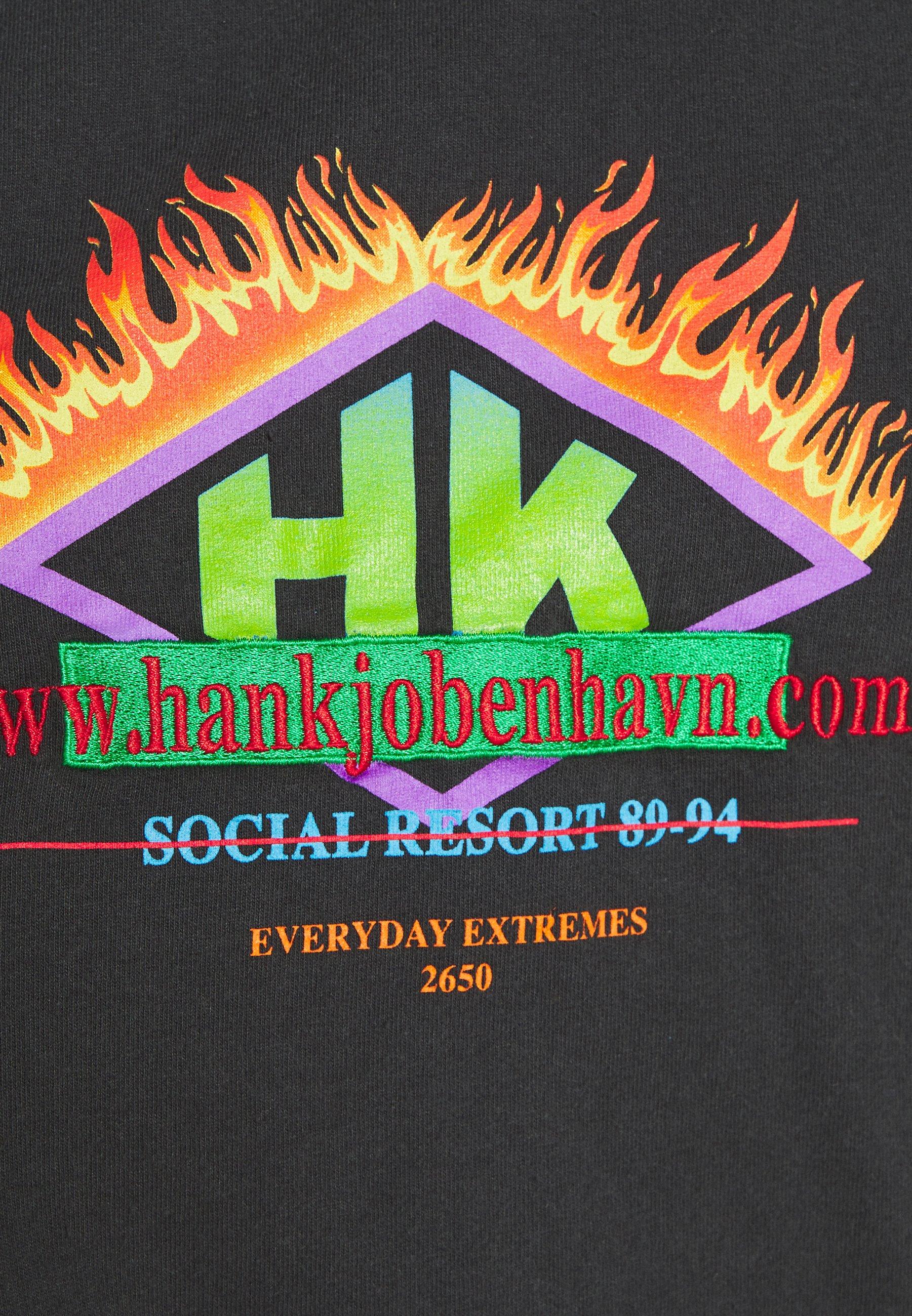 Han Kjøbenhavn Boxy Tee - T-shirts Med Print Faded Black/svart