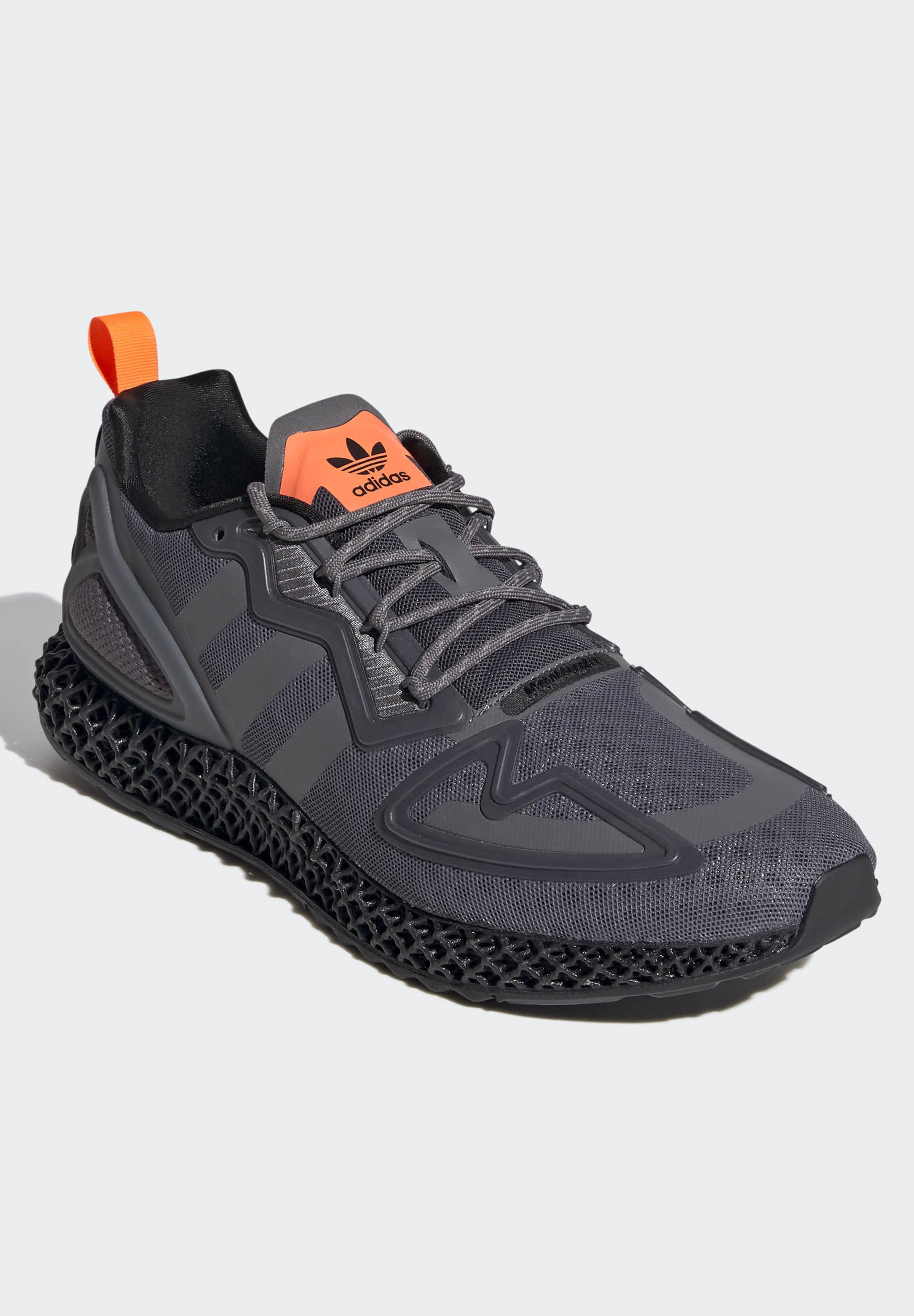 adidas Originals ZX 4D Sneaker low grey four core black solar orange/anthrazit