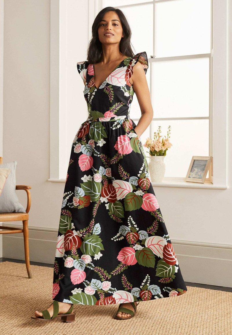 Boden - ANDREA - Maxi dress - schwarz/tropischer urlaub