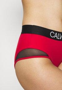 Calvin Klein Swimwear - CURVE HIGH WAIST - Bikini bottoms - rustic red - 3