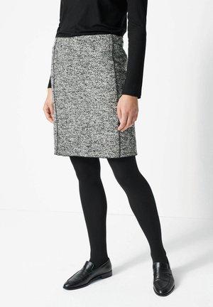 ODENA BOUCLÉ - Mini skirt - anthrazit (14)