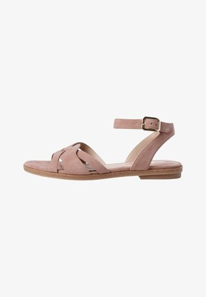 Ankle cuff sandals - old rose