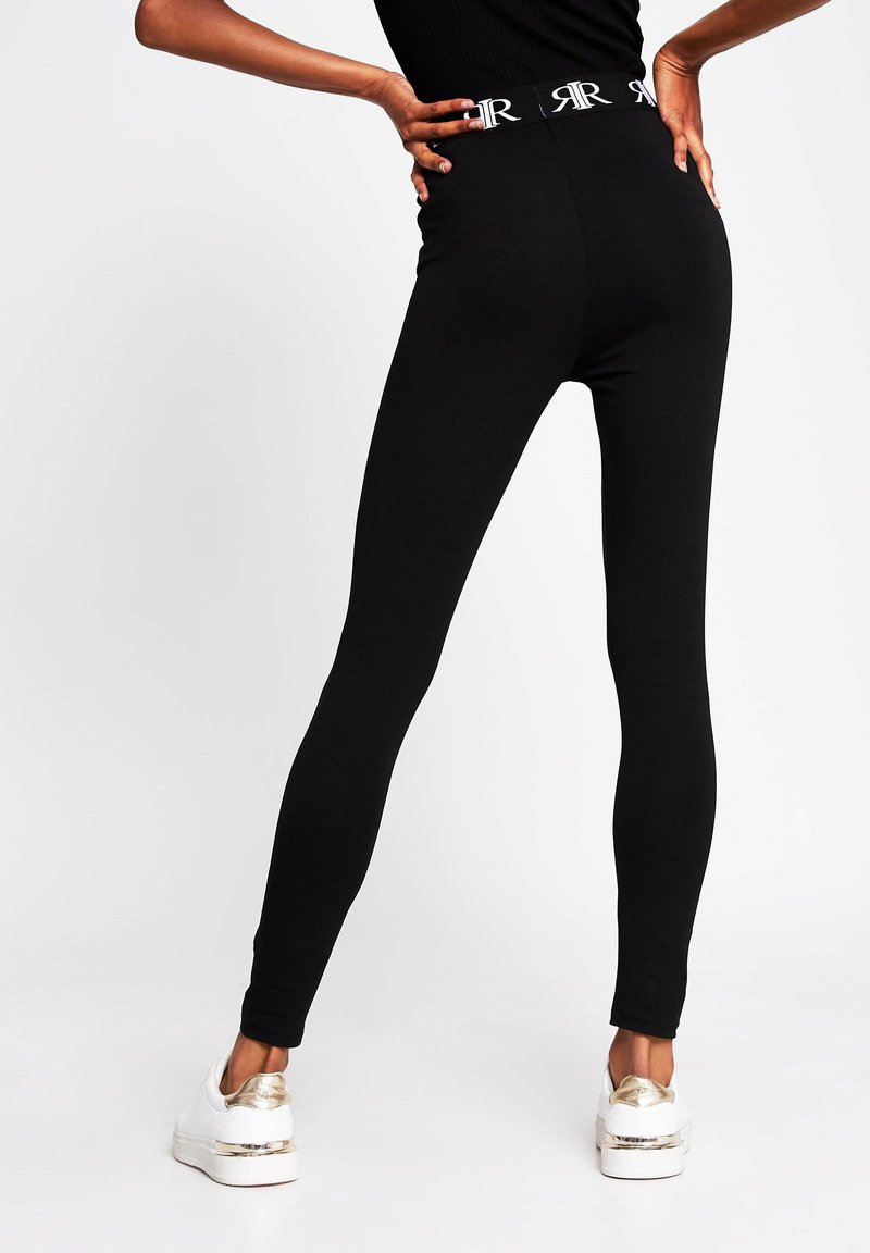 River Island Leggings - Hosen - black/schwarz NuV7Rx