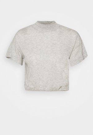 LIFESTYLE MOCK NECK - T-shirt basic - grey marle