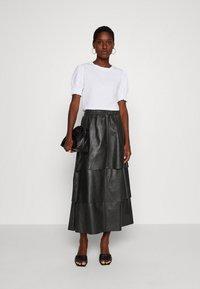 Ibana - SABINE LAYERED SKIRT - Maxi skirt - black - 1
