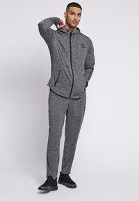 Hummel - ASTON - Zip-up sweatshirt - dark grey melange - 1