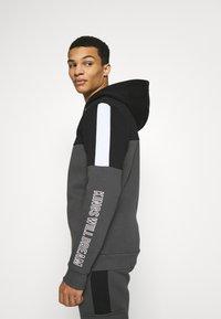 Kings Will Dream - FARNELL ZIP THROUGH HOOD - Zip-up sweatshirt - asphalt/jet black - 3