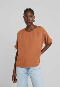 AMOV - CAMILLE BLOUSE - Pusero - amber - 0