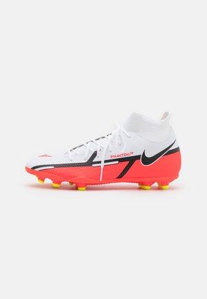 PHANTOM CLUB DYNAMIC FIT FG/MG - Botas de fútbol multitacos - white/bright crimson/volt