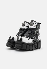 New Rock - UNISEX - Lace-up ankle boots - black/white - 1