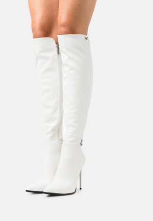Over-the-knee boots - white