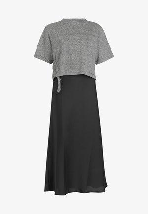 BENNO LIN STRIPE TEE - Day dress - black
