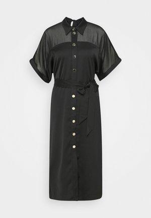 TILLY PANEL SHIRTDRESS - Shirt dress - black