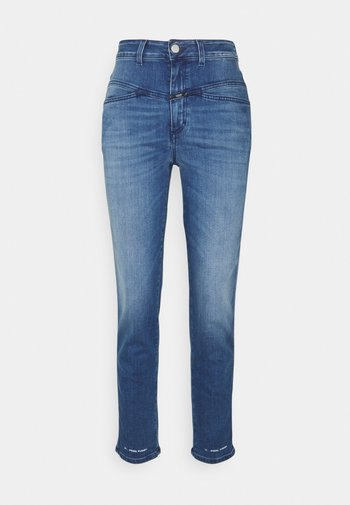 PEDAL PUSHER - Relaxed fit -farkut - mid blue