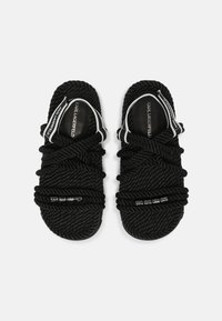 KARL LAGERFELD - RAPALLA ROPE - Platform sandals - black - 5
