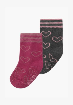 HEARTS 2 PACK - Socks - marone/anthrazit