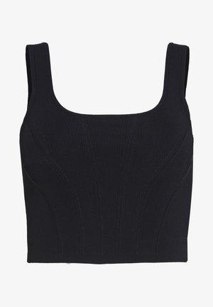 CONTOURED TANK - Top - black