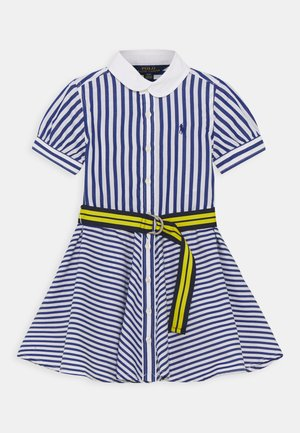 MIX STRIPE DRESSES - Shirt dress - blue/white