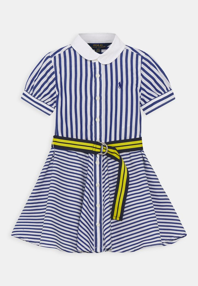 MIX STRIPE DRESSES - Robe chemise - blue/white