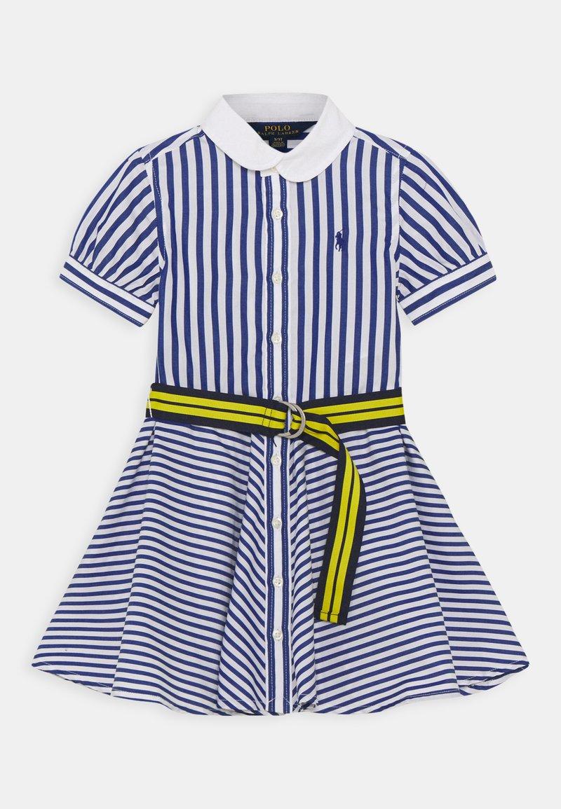 Polo Ralph Lauren - MIX STRIPE DRESSES - Košilové šaty - blue/white