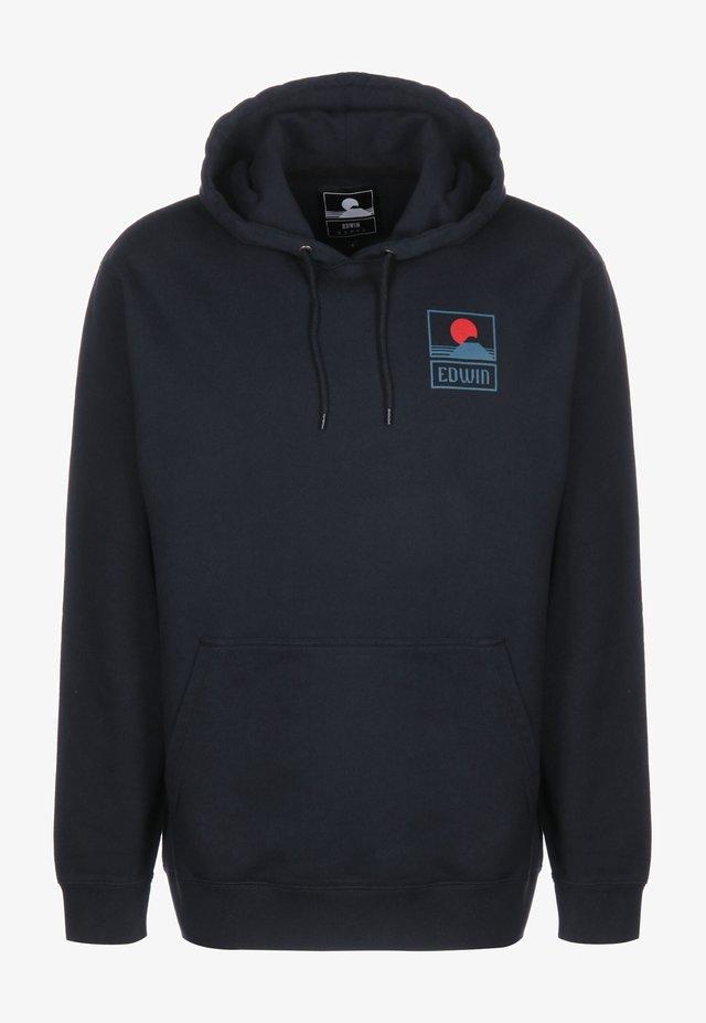 HOODIE SUNSET ON MT FUJI - Hoodie - navy blazer garment washed