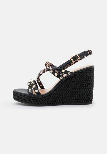 SERENA - Platform sandals - black