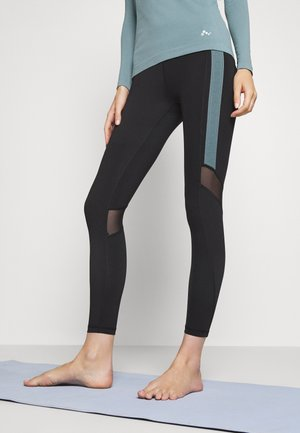 ONPSULA TRAINING - Legginsy - black/goblin blue