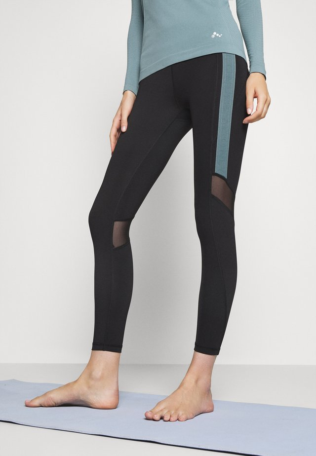 ONPSULA TRAINING - Legging - black/goblin blue