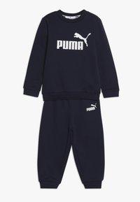 Puma - CREW BABY JOGGER SUIT - Tepláková souprava - peacoat - 0