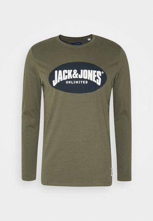 JOR30HISTORY CREW NECK - Long sleeved top - dusty olive/navy