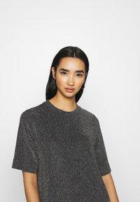 Monki - IZZY DRESS - Jersey dress - black/silver - 3