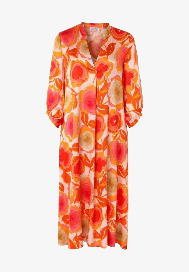 Korte jurk - orange druck