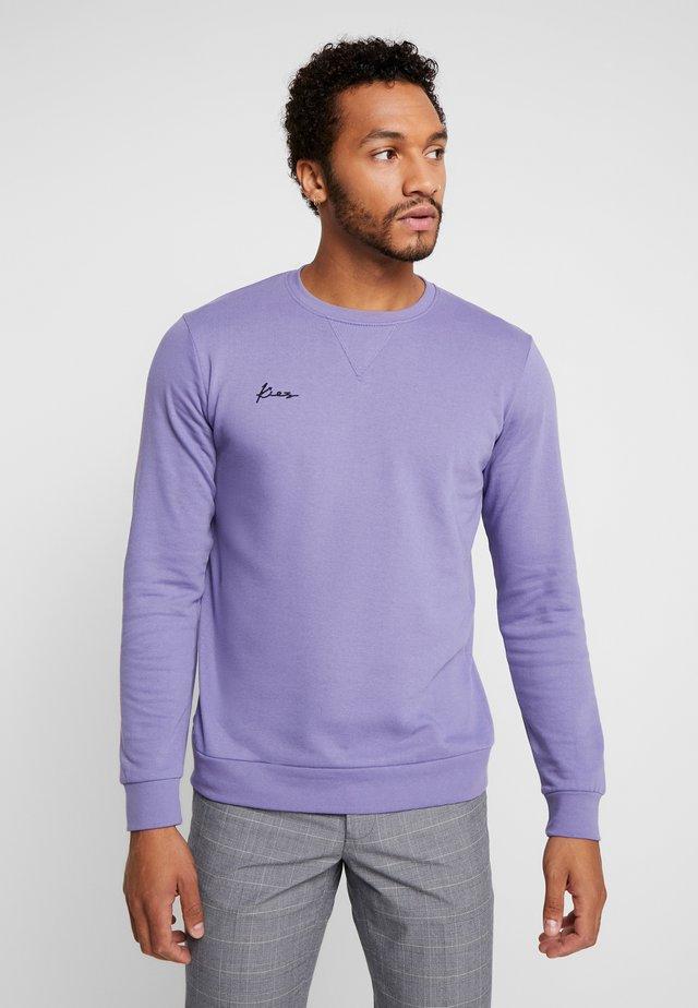 LOGO CREW NECK - Sweater - purple