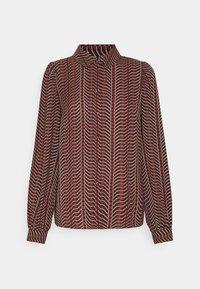VMHIBALA - Button-down blouse - madder brown/black/white