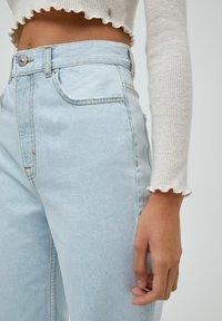 PULL&BEAR - Jeans Straight Leg - mottled dark blue - 4