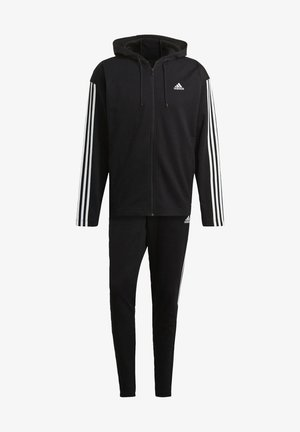 ADIDAS SPORTSWEAR RIBBED INSERT TRACKSUIT - Tracksuit - black