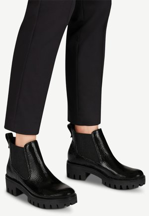 Ankle boots - black patent