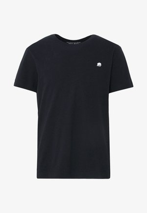 LOGO SOFTWASH TEE - Basic T-shirt - black